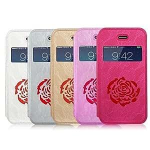 SHOUJIKE ZHONGE Flower Design Full Body Case for iPhone4(Assorted Colors) , White