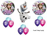 Frozen Olaf Anna & Elsa Disney Movie BIRTHDAY PARTY Balloons Decorations Supplies by Anagram