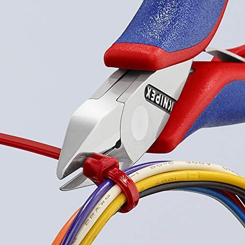 KNIPEX 77 42 115 Pince coupante de c/ôt/é pour l/électronique avec gaines bi-mati/ère 115 mm