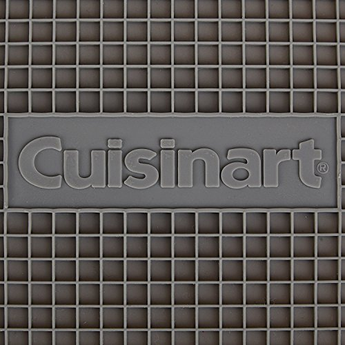 Cuisinart Multipurpose Silicone Kitchen Tool, Trivet/Pot Holder, Spoon Rest, Jar Opener, Coaster, Heat Resistant Pad, Steel- 2pk