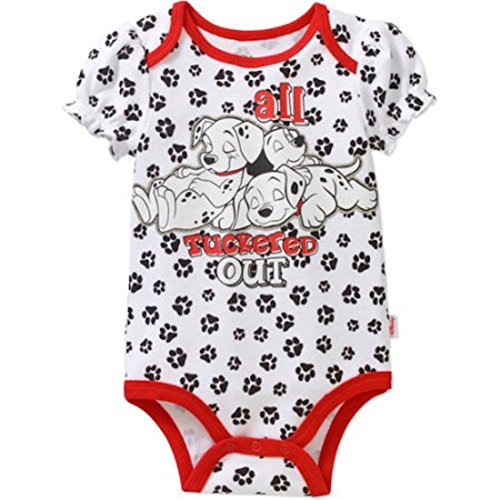 Disney 101 Dalmatians All Tuckered Out Baby Girls Bodysuit Dress Up Outfit (0-3 Months)