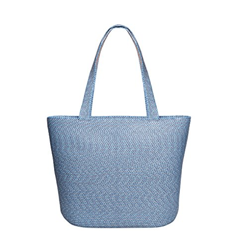 Eric Javits Luxury Fashion Designer Women's Handbag - Squishee Tote - Denim (Squishee Clip)