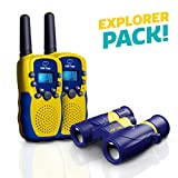 "USA Toyz Kids Walkie Talkies and Binoculars for Kids - ""Vox Box"" Outdoor Toys Walkie Talkie Kit w/ Long Range Walkie Talkies for Boys and Girls + Kids Binoculars"