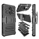 phone cases for a lg slide phone - LG Stylo 4 Case, LG Q Stylus Holster Clip Case, [Ngate] Armor Shockproof Locking Swivel Belt Clip Kickstand Heavy Duty Defender Full Body Protective Cover for LG Stylus 4/ LG Stylo 4 Plus [Black]