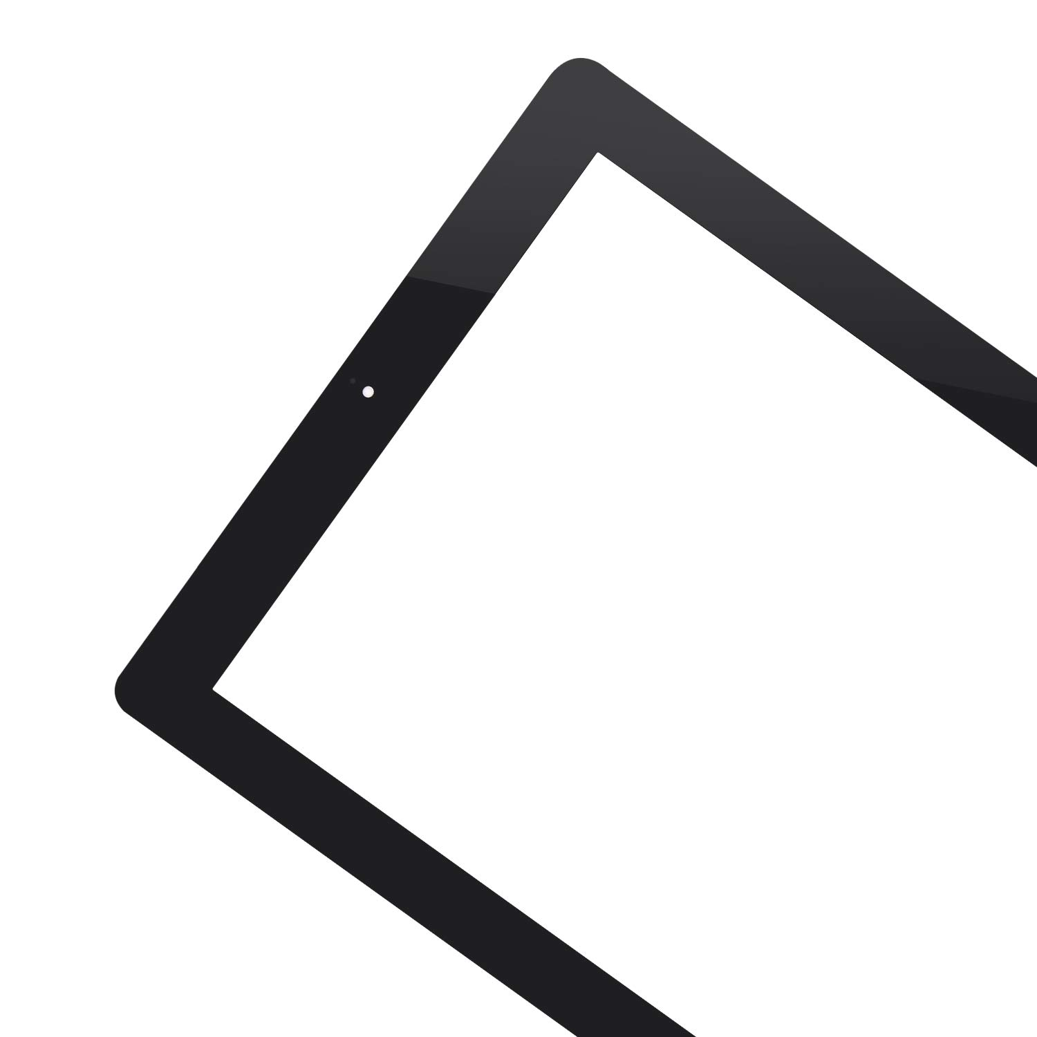 for iPad 2 Touch Screen Replacement A1397 A1395 A1396 Touch Digitizer Glass Parts Home Button Middle Frame Bezel Cameral Holder Pre-Installed Adhesive Black