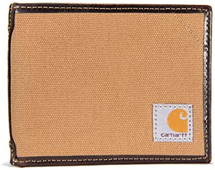 Carhartt Men's Billfold and Passcase Wallets, Durable Bifold Wallets, Available in Leather and Canvas Styles