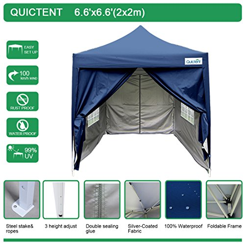 Quictent-Waterproof-66×66-EZ-Pop-Up-Canopy-Commercial-Gazebo-Party-Tent-Navy-Blue-Pyramid-roofed-Removable-sides-and-Roller-Bag