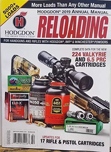Hodgon Reloading 2019 Annual Manual 17 Rifle & Pistol Cartridges (Best Rifle Reloading Powder)
