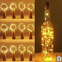 Bottle Lights, kolpop Cork Lights for Wine Bottles, 2m 20 LED Copper Wire Fairy Lights for Parties, Birthday, Wedding,...