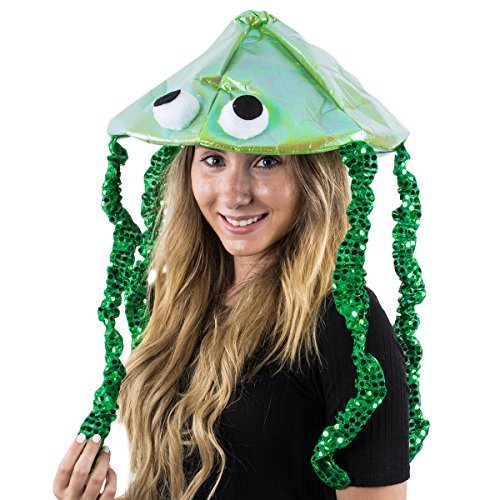 Tigerdoe Jellyfish Hat - Sea Party Hat - Jellyfish Costume - Fish Hat - Costume Accessory (Green) ()