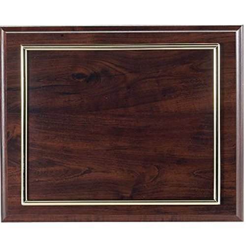 Certificate Plaque Board with Gold Raised Border Slide in Plexi Glass, Walnut Finished