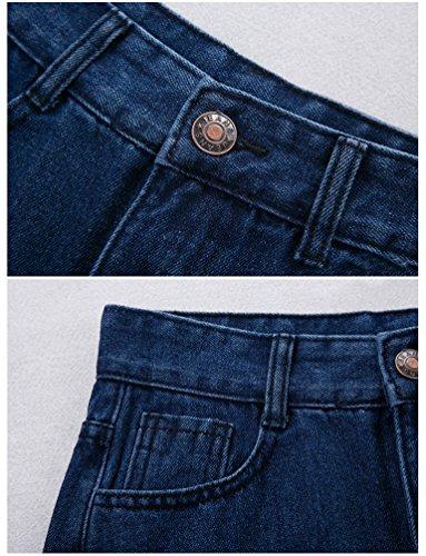 Houppe Taille Jean Ligne Skirts Jean Denim Jupe lgant Femmes Bleu A Mode Haute NiSeng Jupe PpxUnfwqEI