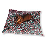 Modern Patchwork Triangles Dog Pillow Luxury Dog Cat Pet Bed