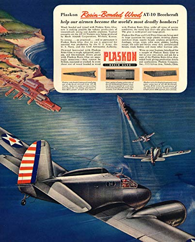 Beechcraft Beech AT-10 Trainer - Plaskon Resin Glue ad 1943F