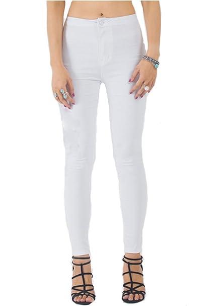 Amazon.com: echoine Super elástico cómodo pantalón Skinny ...