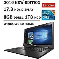 Lenovo G70-80 17.3 Laptop Core i5-5200U (3M Cache, up to 2.2 GHz) 8GB RAM 1TB HDD Windows 10 Black