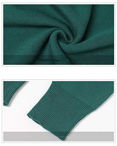 Abito Con Cuo A Donna Lishihuan Stampa In Maniche Green Geometrica Maglia Lunghe Da fnFqdw8U