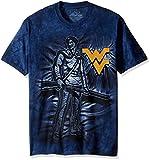 The Mountain Men's West Virginia U Mtneer IS Yellow Logo Adult T-Shirt, Blue, 3XL