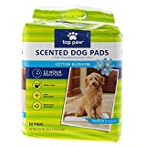 Top Paw Scented Dog Pads for Puppy Training, Indoor Dogs or Apartment Living, or Dogs with Incontinence. 12-hour Protection, Cotton Blossom Scent - 50 Count