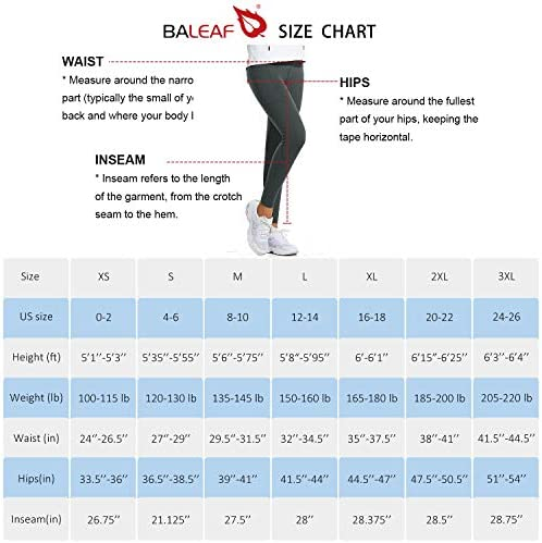 BALEAF Women's Fleece Lined Water Resistant Legging High Waisted Thermal Winter Hiking Running Tights Pockets