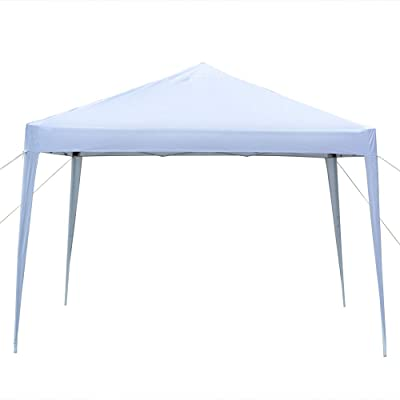 Knocbel Instant Canopy Tent 10 x 10 FT Pop up Shelter, Metal Frame & Waterproof Fabric, 3-Position Height Adjustable with Carry Bag (White) : Garden & Outdoor