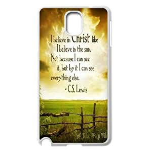 Personality customization Customized Christian Quotes Note3 Phone Case, Christian Quotes Personalized Hard Back Cover Case for Samsung Galaxy Note3 N9000 At HY_in Case