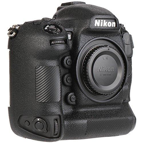 Easyhood カメラケース Nikon D5用 ソフトシリコンラバーカメラ保護ボディケーススキン ニコン D5カメラバッグプロテクターカバー B07KJCJVB9 ブラック