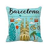 Barcelona Sagrada Familia cuadrado inserto de, para el hogar o la oficina, en forma de cojín casa sofá decoración regalo