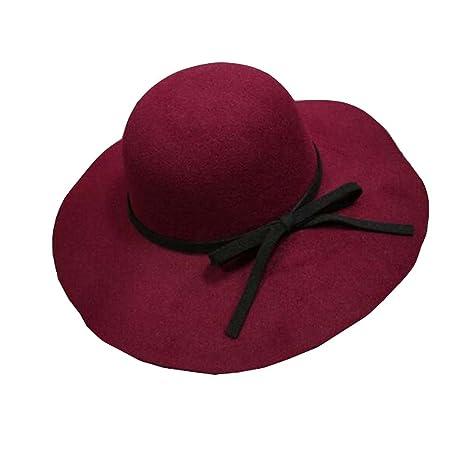 d7abf7564 Amazon.com: East Majik Red Floppy Hat Bowler Hat Wide Brim Hat Black ...