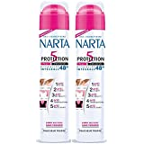 Narta - Déodorant Femme Atomiseur Anti-Transpirant Protection 5 Efficacité 48h - 200 ml - Lot de 2
