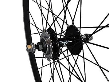Deep V 43 mm rueda trasera para bicicleta, Fixed Gear, vía, una sola ...