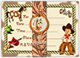 Dolce Mia Western Tots Cowboy Party Invitations - 10 pack fill-in cards