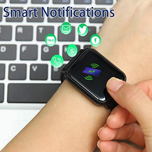 Smart Watch with Blood Pressure Oxygen Monitor, Temperature Heart Rate Monitor Fitness Tracker, IP67 Waterproof Smartwatch for Men Women