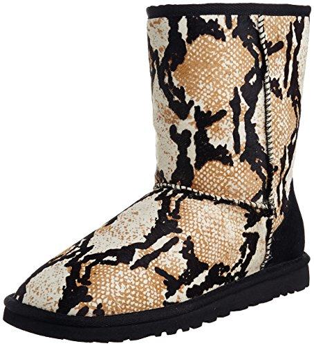 Classic Ugg Australia Womens Short (UGG Australia Womens Classic Short Reptile Calf Hair Boot Black Size 7)