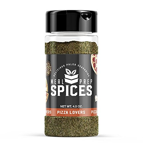 Meal Prep Spices Pizza Lovers Seasoning - Paleo, Kosher, and Gluten Free - One (1) 4.5oz Bottle