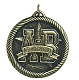 Hammond & Stephens Multi-Level Dovetail/A-B Honor Roll Value Medal, 2 in, Solid Die Cast, Bronze