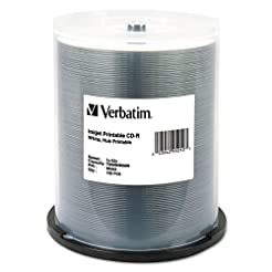 Verbatim CD-R 700MB 52X White Inkjet Hub...