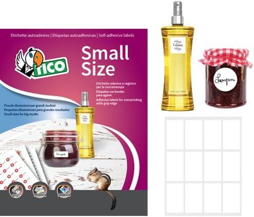 Tico p-4828/ 48/x 28/mm colore: bianco /Etichette enqui/ñas rotondi