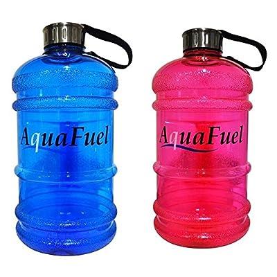 Aqua 2.2litre de carburant Bouteille d'eau–Tous usages, durable, DE HAUTE Qualité, sans BPA, prise en charge d'eau secours Charity, guide d'hydratation gratuit–rester Hydrat&ea