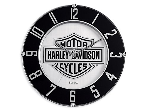 Harley-Davidson Mirrored Bar & Shield Logo Clock 14'',, used for sale  Delivered anywhere in USA