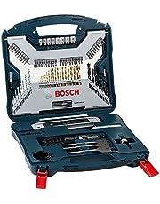 Kit de Pontas e Brocas em Titânio Bosch V-Line para parafusar e perfurar com 91 unidades