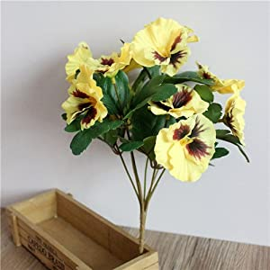 Hyalo (TM) Pansy Artificial Flowers Plants Home Office Wedding Decoration Silk Flower DIY Flower Arrangement Floral Art D9 86