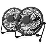 2 Pack - Mini USB Table Desk Personal Fan, for Home, Office, Study - USB Powered