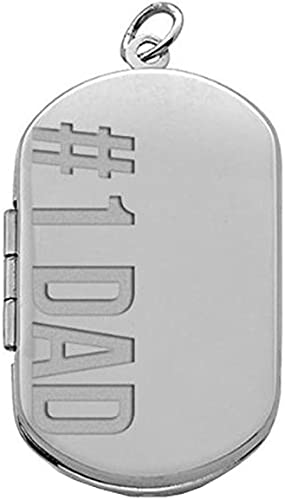 """Genuine Solid 925 Sterling Silver ID Dog Tag Mens Engravable Pendant 1.5/"""" Italy"""