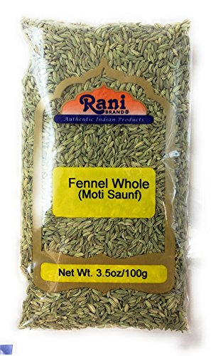 Rani Fennel Seeds (Saunf Sabut) Whole Spice 3.5oz (100g) All Natural ~ Gluten Free Ingredients | NON-GMO | Vegan | Indian Origin