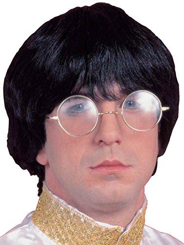 Forum Novelties Men's 60's Mod Wig Deluxe, Black, One Size