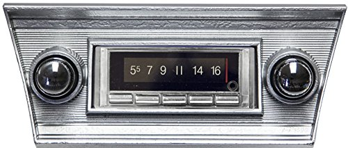 1966-1967 Chevrolet Chevelle 300 watt Custom Autosound USA-740 AM FM Car Stereo/Radio with built-in Bluetooth, AUX Inputs, Color Change LCD Digital Display