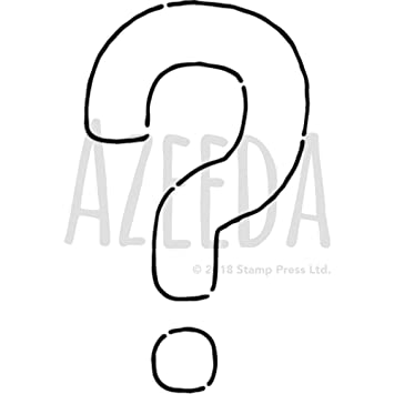 graphic relating to Printable Question Mark titled Azeeda A5 Speculate Mark Wall Stencil / Template