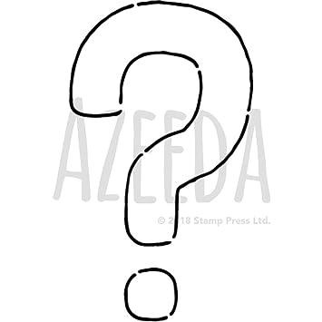 photo regarding Printable Question Mark identify Azeeda A5 Ponder Mark Wall Stencil / Template