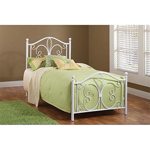 Hillsdale Furniture 1687BTW Ruby Bed Set, Twin, Textured White (Fleur Lis Furniture Hillsdale De)